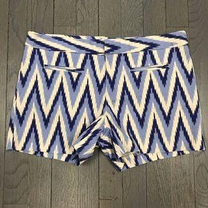 Gap Factory Stretch Ikat Front Pocket Blue Shorts